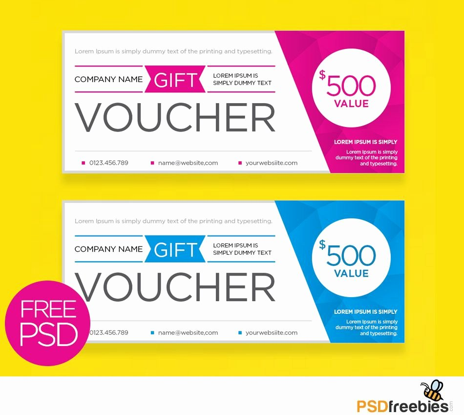 Download Free Clean and Modern Gift Voucher Template Psd Freebies A T Card Template that is