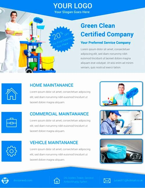 Download Free Cleaning Service Flyer Psd Template for