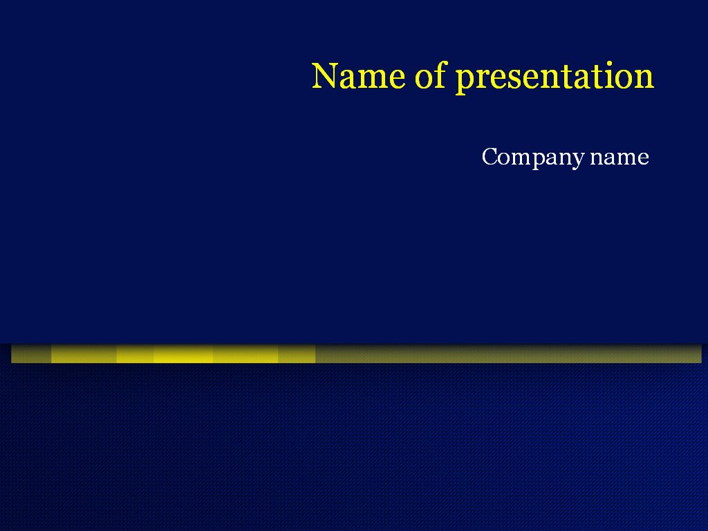 Download Free Dark Blue Powerpoint Template for Presentation