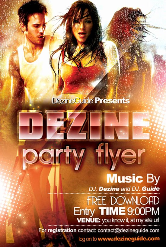 Download Free Dezine Party Flyer Poster Template