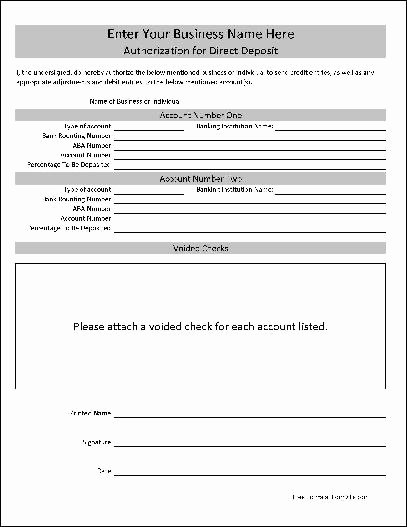 Download Free Direct Deposit forms Templates Filecloudriver