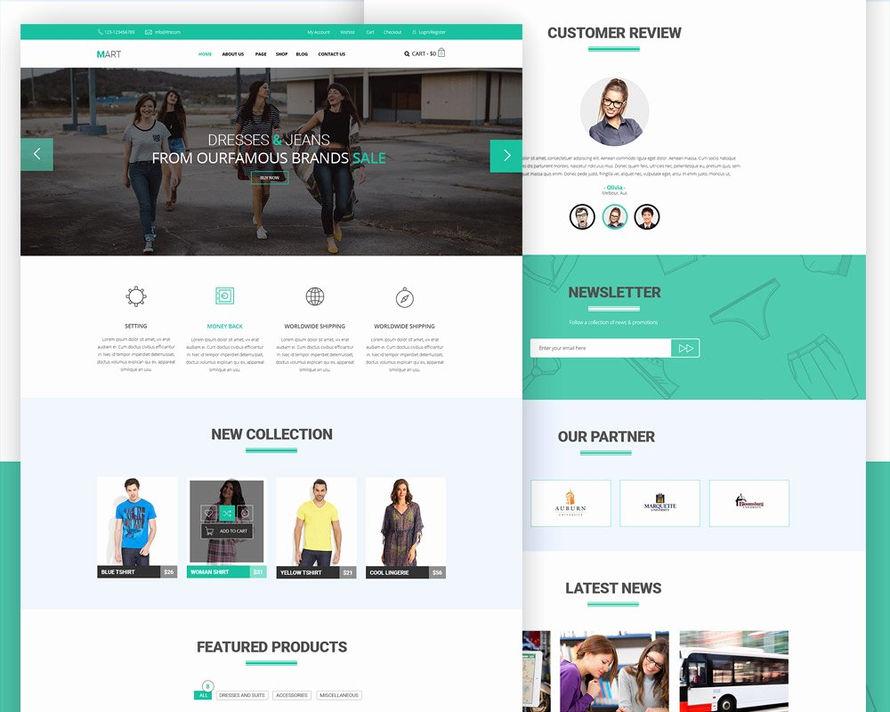 Download Free E Merce Website Free Psd Template at