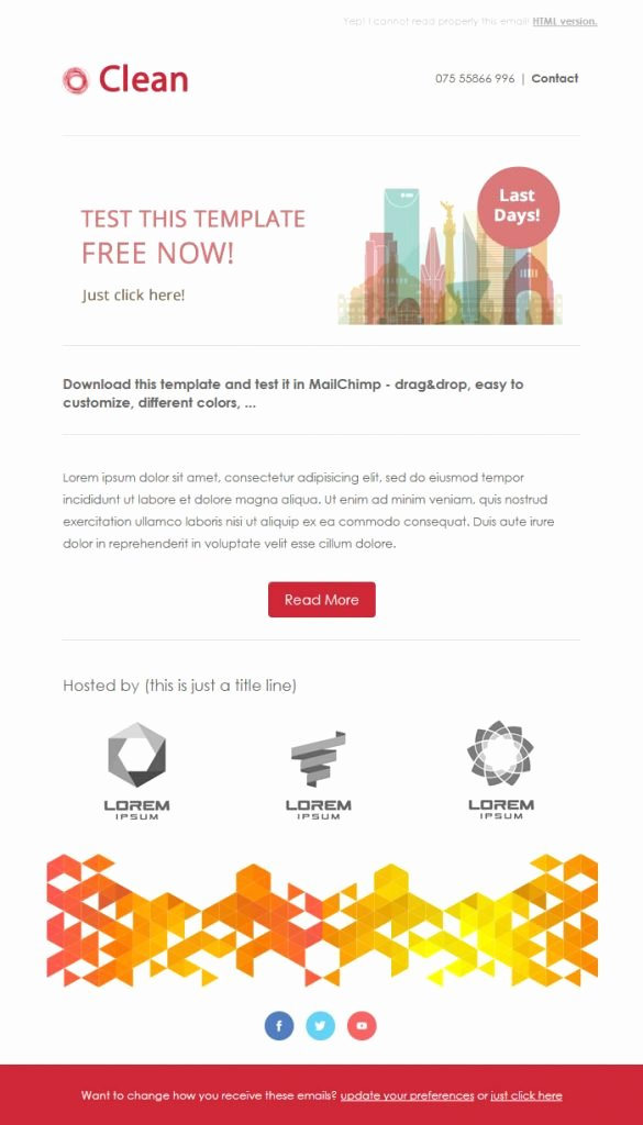 Download Free Email Template