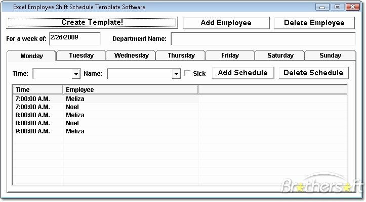 Download Free Excel Employee Shift Schedule Template