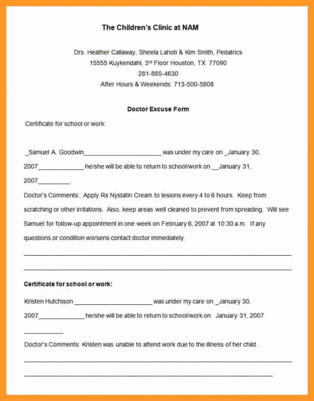 Download Free Fake Doctors Note Templates