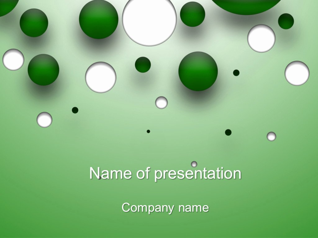 Download Free Falling Bubbles Powerpoint Template for