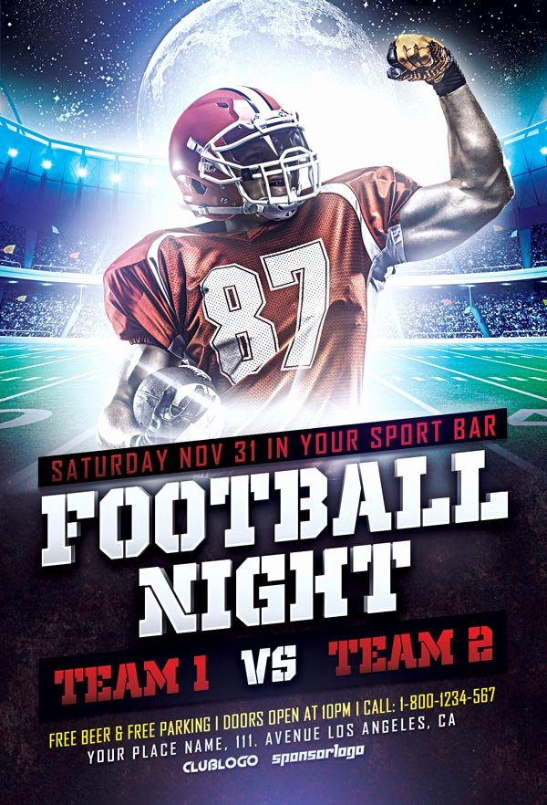 Download Free Football Sports Flyer Template