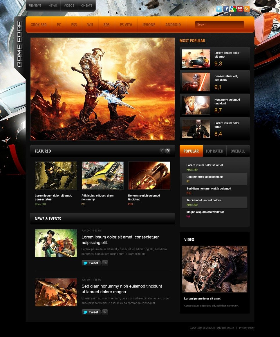 Download Free Game Portal Web Templates Free isoletitbit