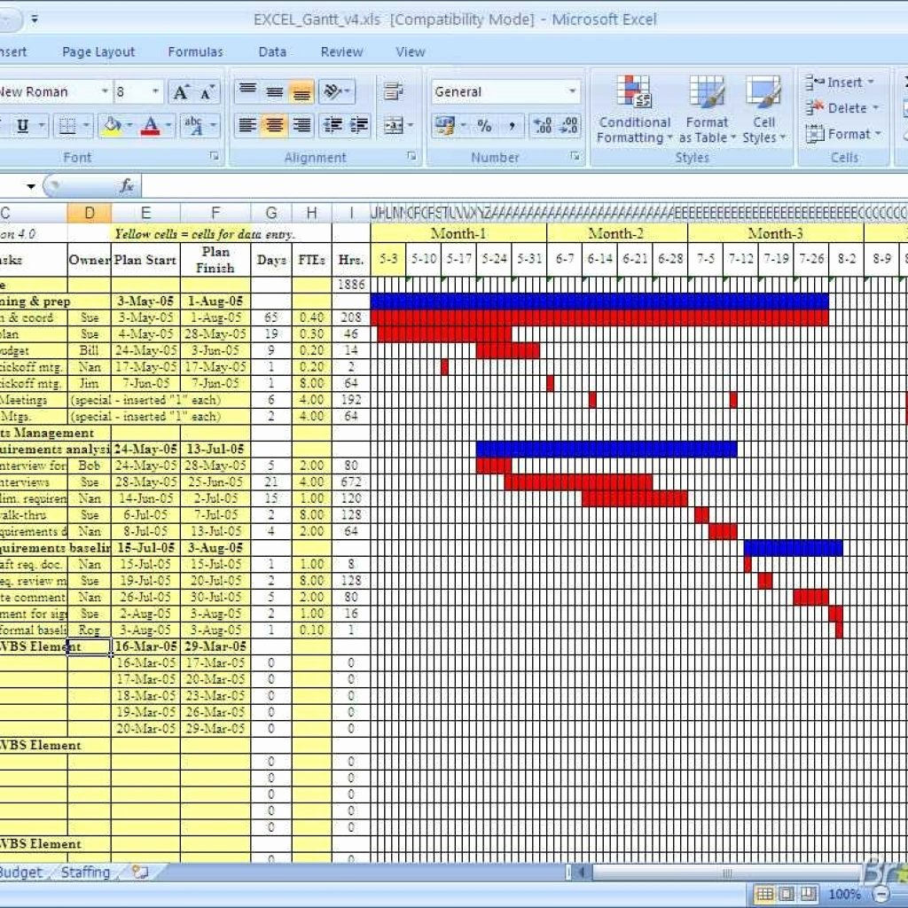 Download Free Gantt Chart Gantt Chart Download with Gantt
