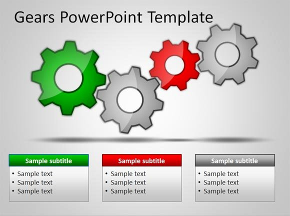 Download Free Gears Powerpoint Templates for Presentations