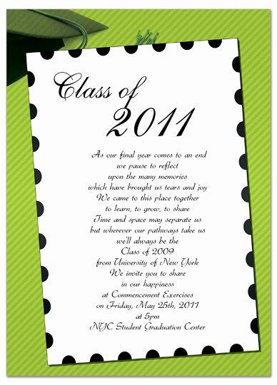 Download Free Graduation Invitation Announcement Green