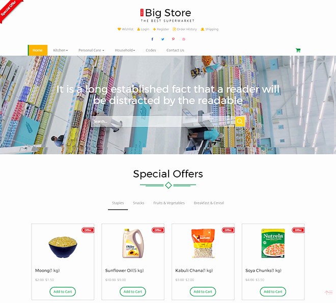 Download Free HTML E Merce Templates for Line Shopping