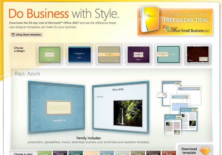 Download Free Microsoft Fice 2007 Templates