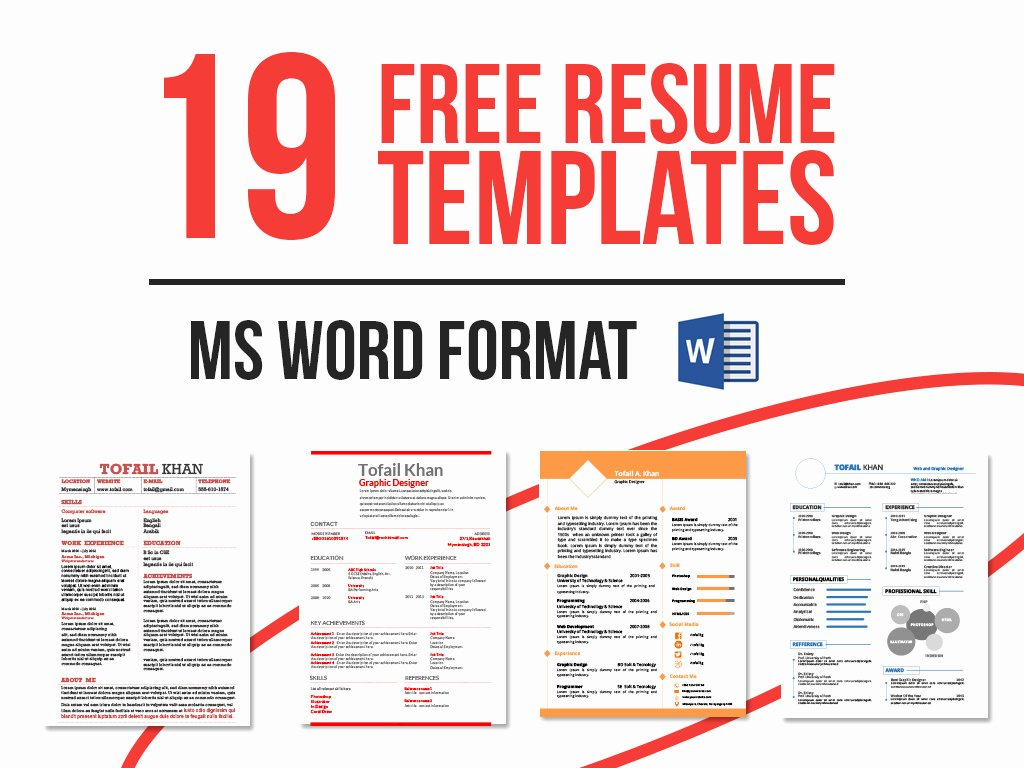 Download Free Monogram Resume forms – Perfect Resume format