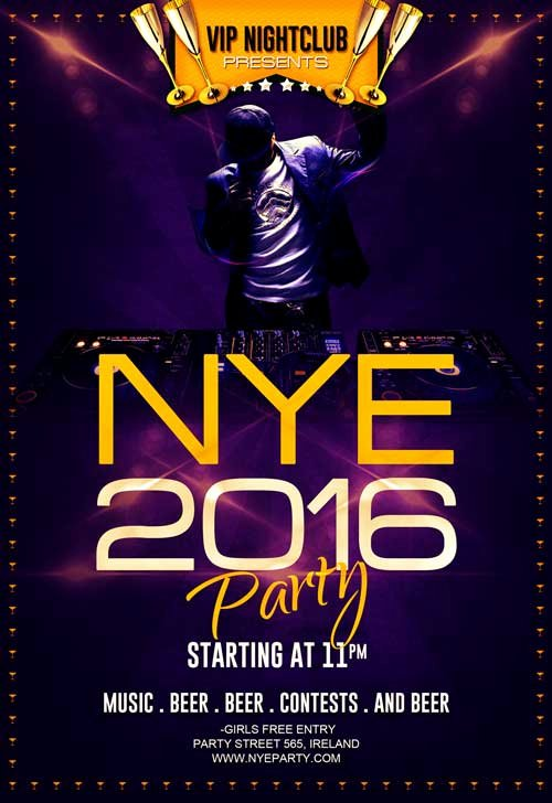Download Free New Year Eve Party Flyer Template