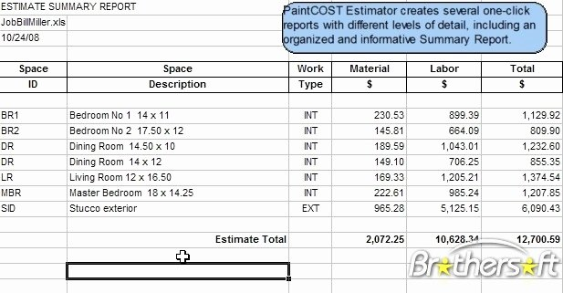Download Free Paintcost Estimator for Excel Paintcost