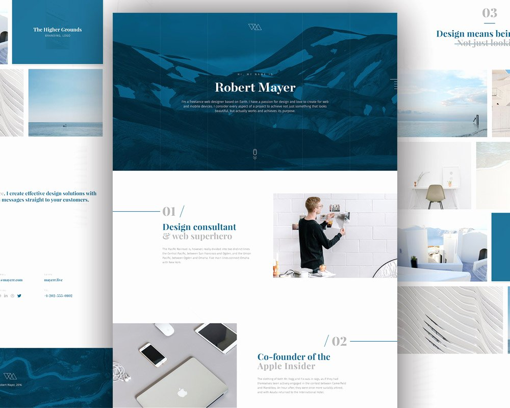 Download Free Personal Website Template Free Psd at