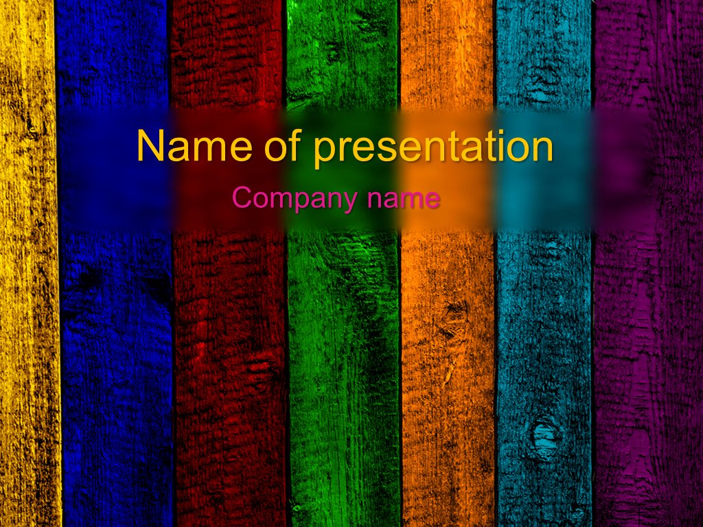 Download Free Rainbow Powerpoint Template for Your