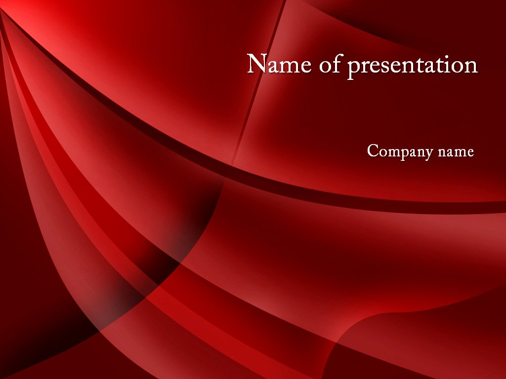 Download Free Red Curtain Powerpoint Template for Presentation