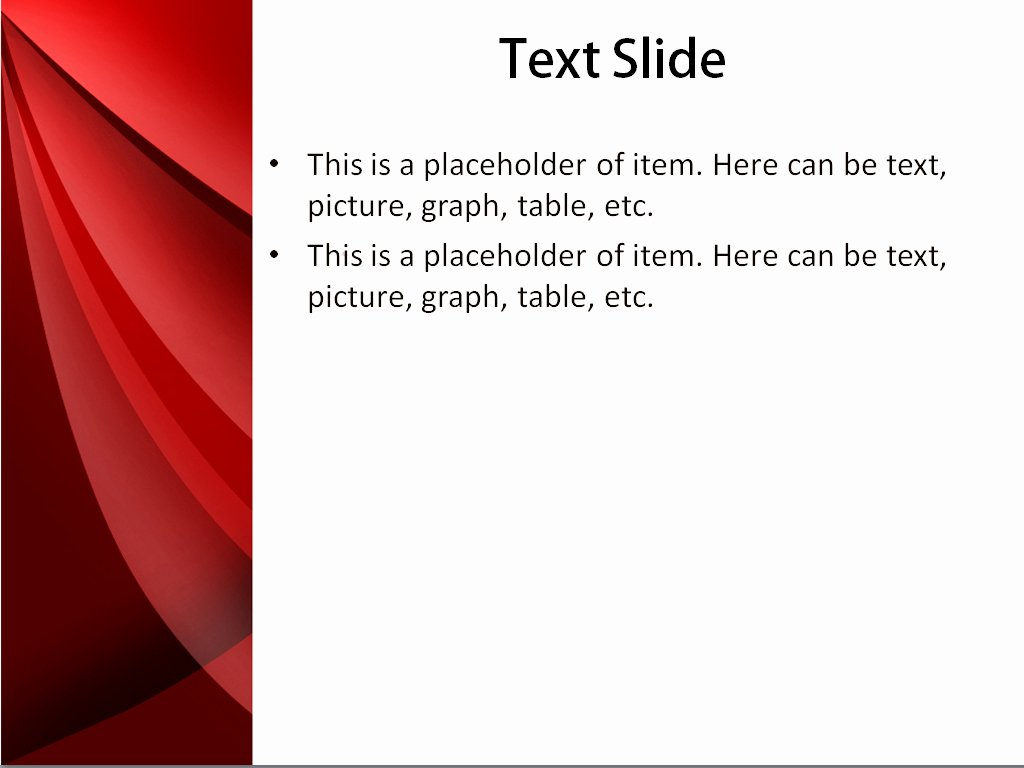 Download Free Red Shades Powerpoint Template for Your