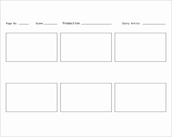 Download Free Storyboard Template Tutorials In – Latter Example Template