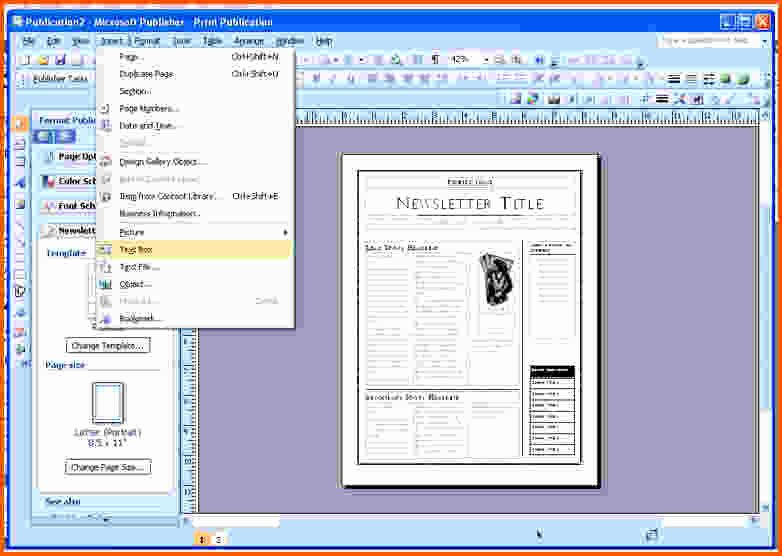 Download Free Templates In Publisher 2003 Blackraven