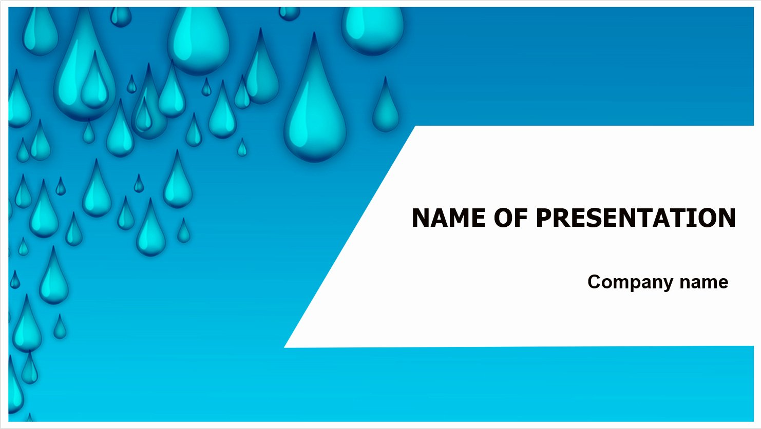 Download Free Water Drops Powerpoint Template for Your