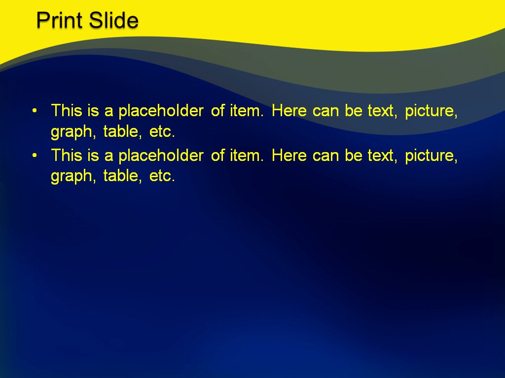 Download Free Yellow Blue Mix Powerpoint Template for