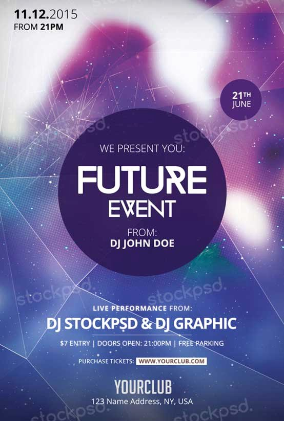 Download Future event Free Psd Flyer Template for Shop