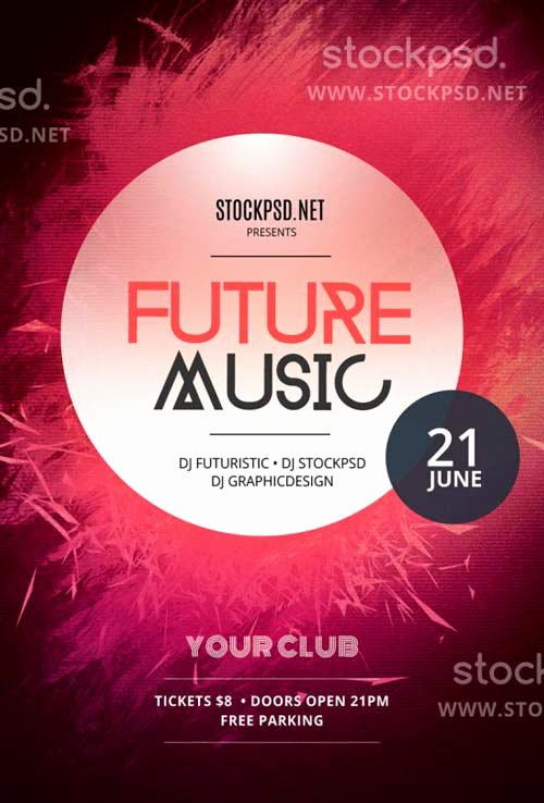 Download Future Music Free Psd Flyer Template for Shop
