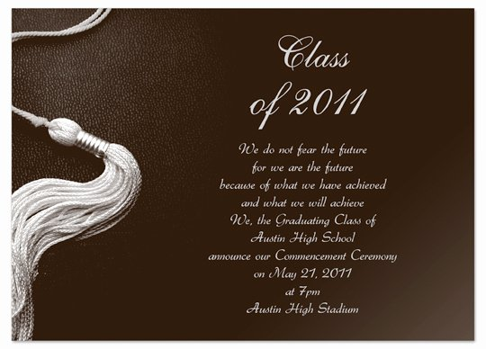 Download Kit Graduation Invitation Announcement Brown Word