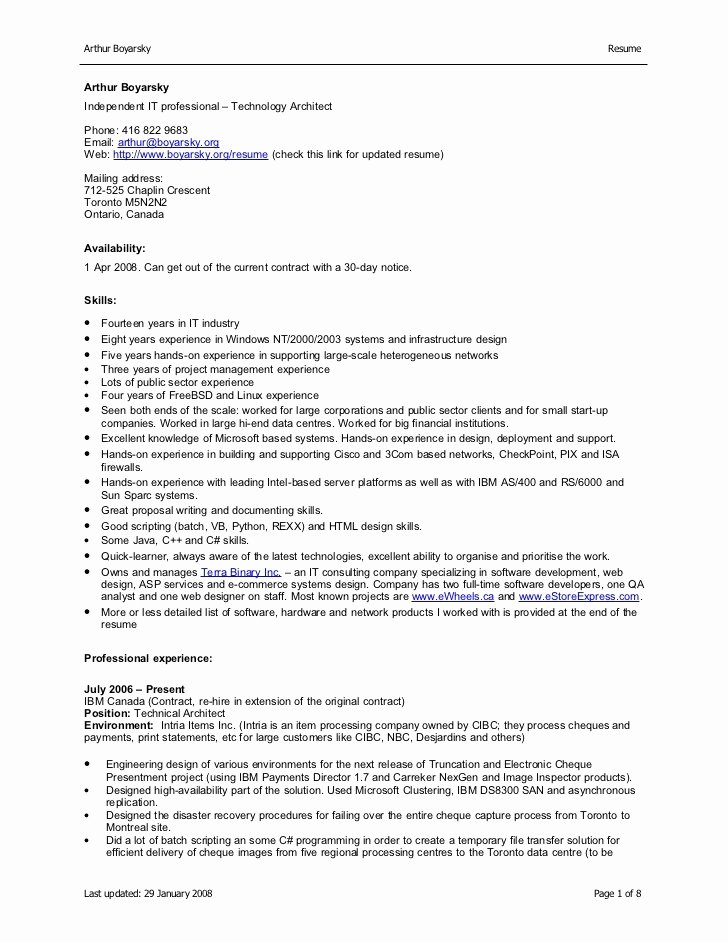 Download Microsoft Word Resume format with List Skills