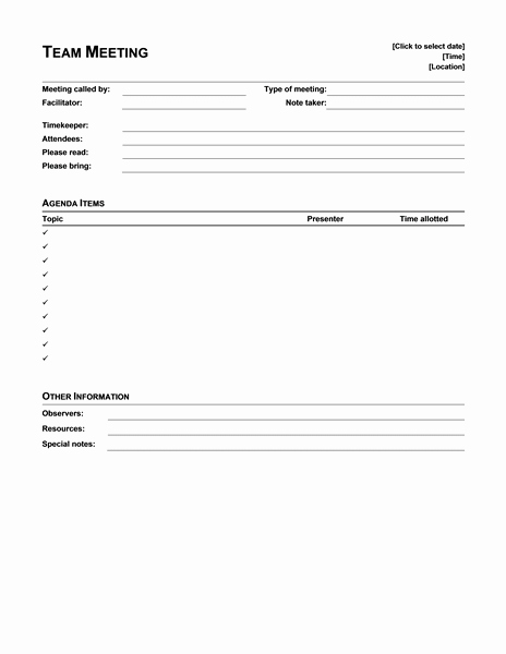 Download Ms Fice Informal Meeting Agenda for Discussion