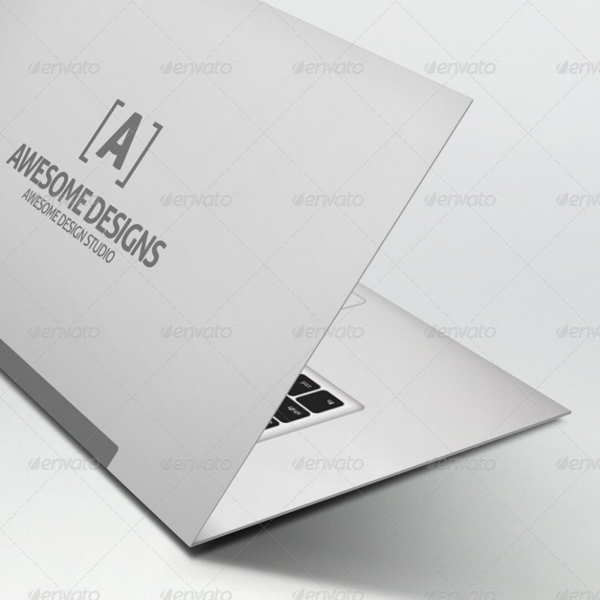 Download Mybook Pro Folded Business Card Template by