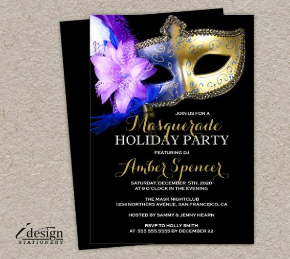Download now Masquerade Invitation Template – 24 Free Psd