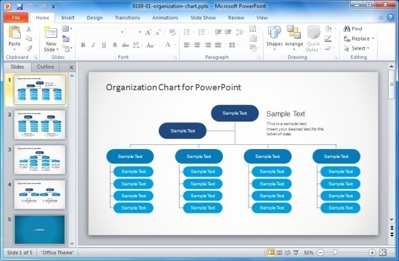 Download organization Chart Template Word Templates