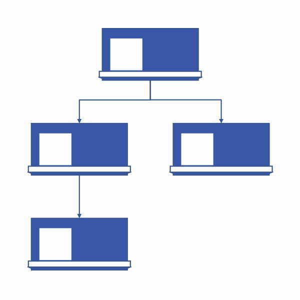 Download organizational Chart Template Word for Microsoft