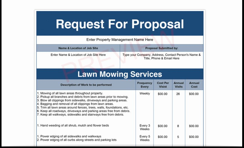 Download Our Sample Lawn Care Bid Proposal Search
