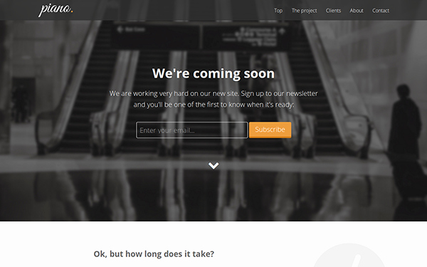 Download Piano Ing soon Landing Page Website