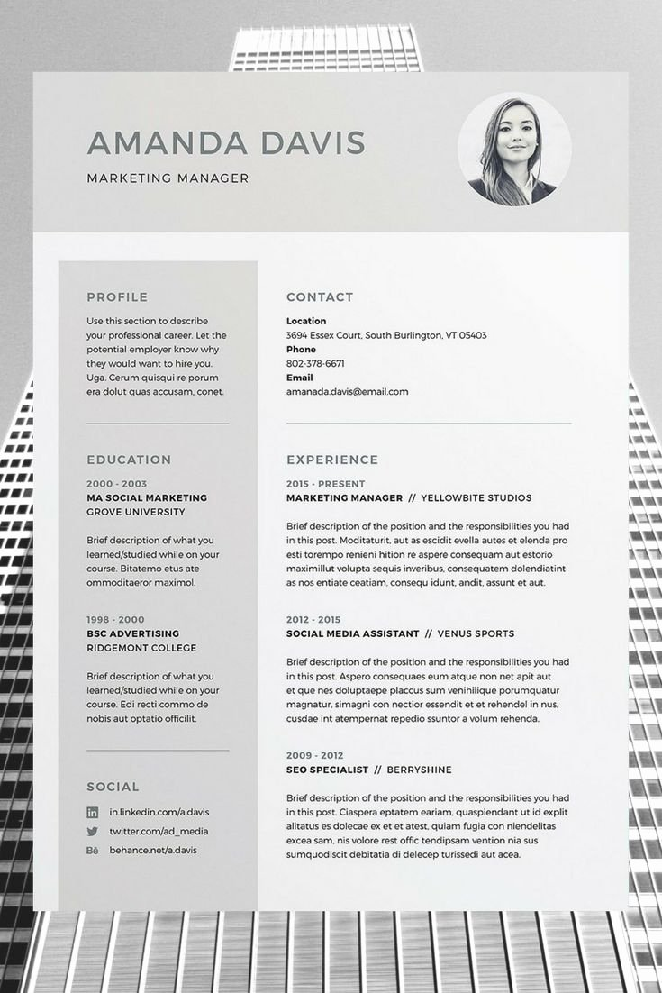 Download Polished Resume Doc Template – Perfect Resume format