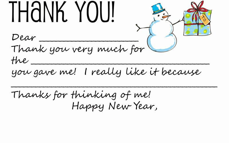 Download Printable Holiday Thank You Note Template for