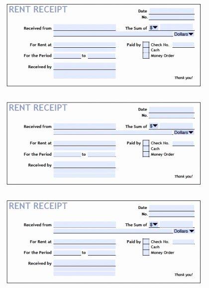 Download Printable Rent Receipt Templates Pdf