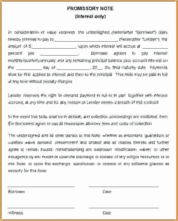 Download Promissory Note Templates for Free Business