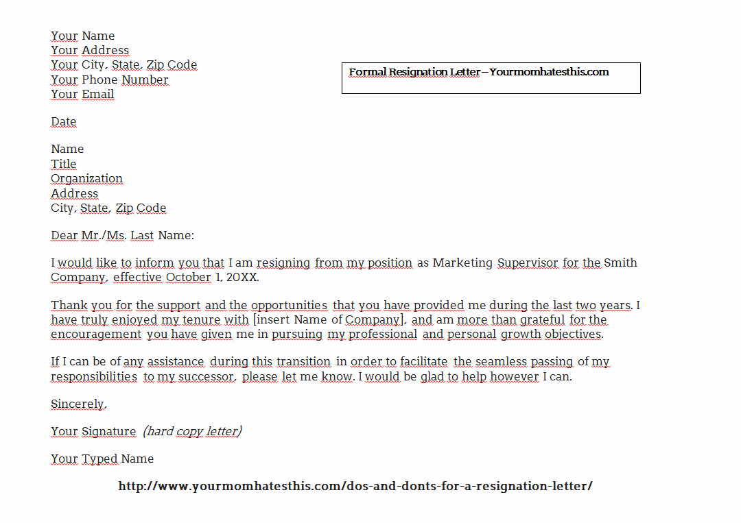 Download Resignation Letters Pdf & Doc