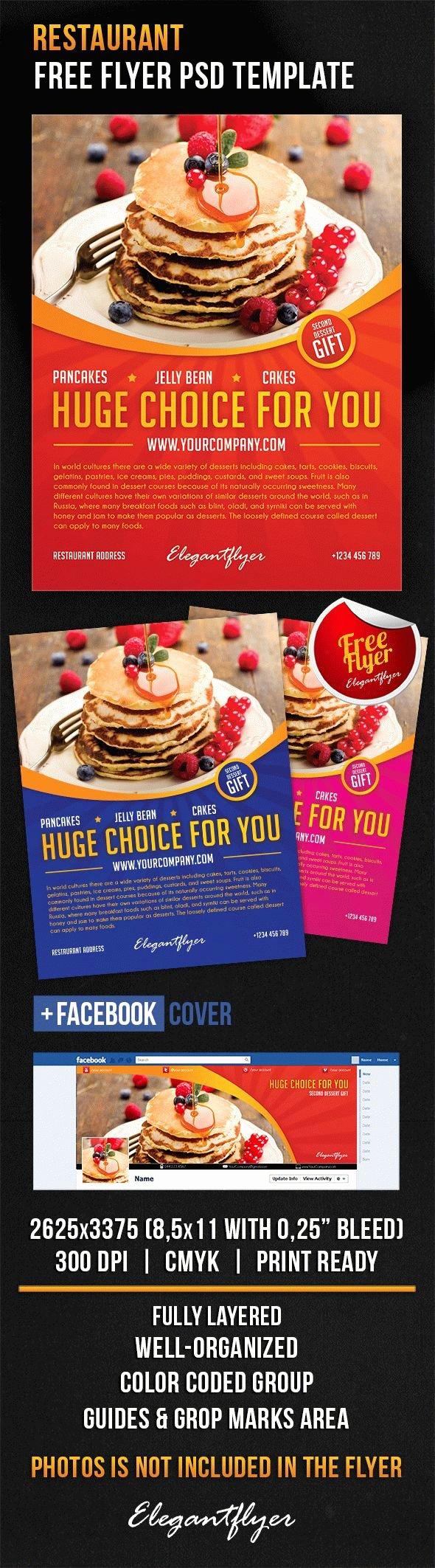 Download Restaurant Cover Shop Flyer