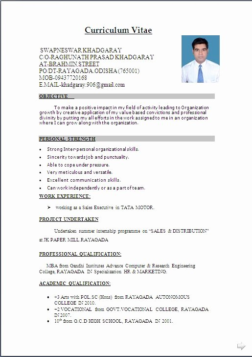 Download Resume format & Write the Best Resume