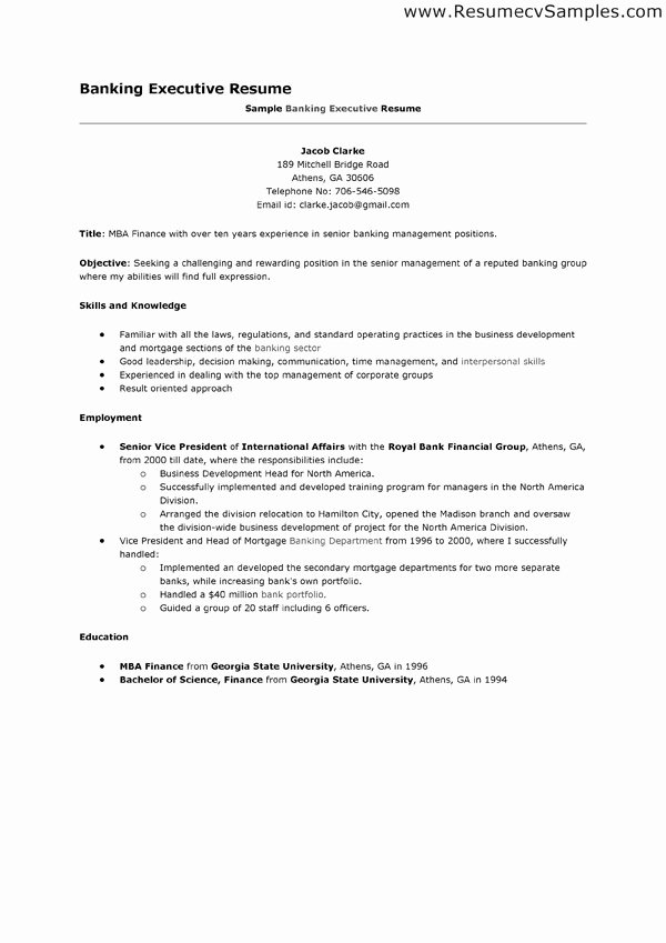 Download Resume Samples for Banking Jobs