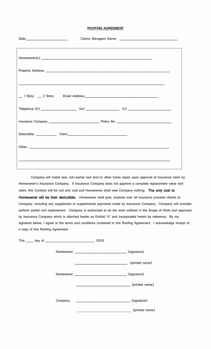 Download Roofing Contract Templates for Free Tidytemplates