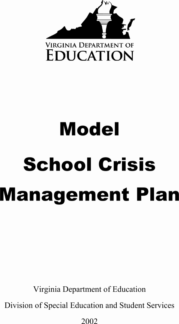 Download School Crisis Management Plan for Free