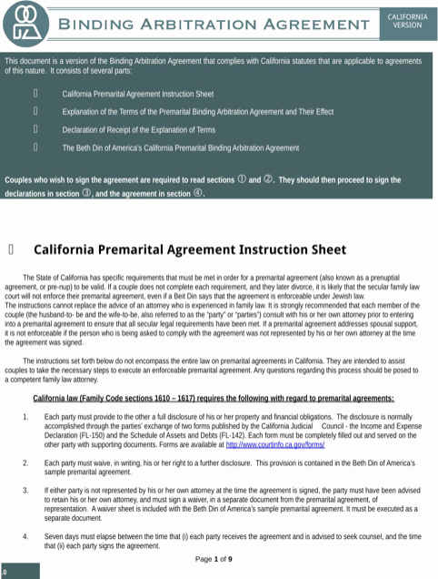 Download Texas Prenuptial Agreement Sample for Free